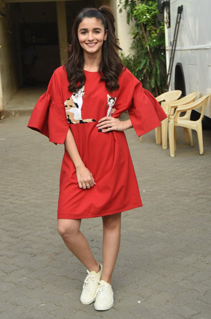 Alia Bhatt during Dear Zindagi promotion