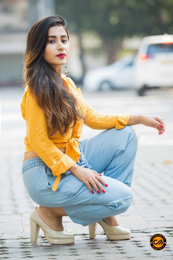 The Fabric Fad wearing Cantabil India