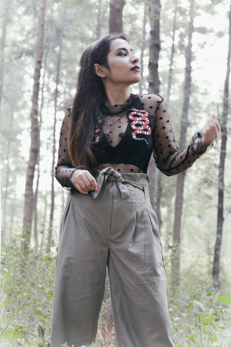 Tied Waist Cotton Pants